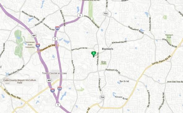 Marietta Georgia Map Addison Heights Location